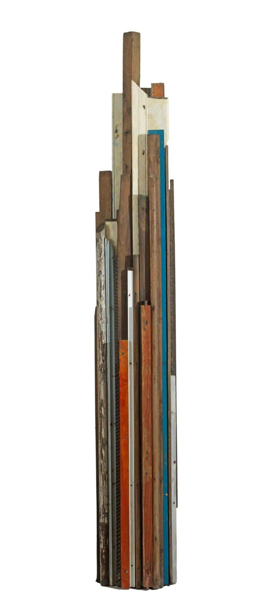 ΒΑΣΙΛΗΣ ΣΚΥΛΑΚΟΣ (1930-2000) «Χωρίς τίτλο» χρώμα,ξύλο 1990 200 x 30 x 20 εκ. έργο τέχνης - Roma Gallery