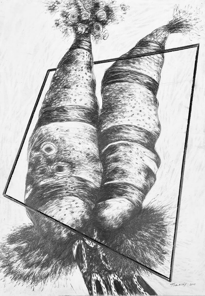 Γιώργος Τσακίρης 2010 Μολύβι σε χαρτόνι 70 x 50 εκ.