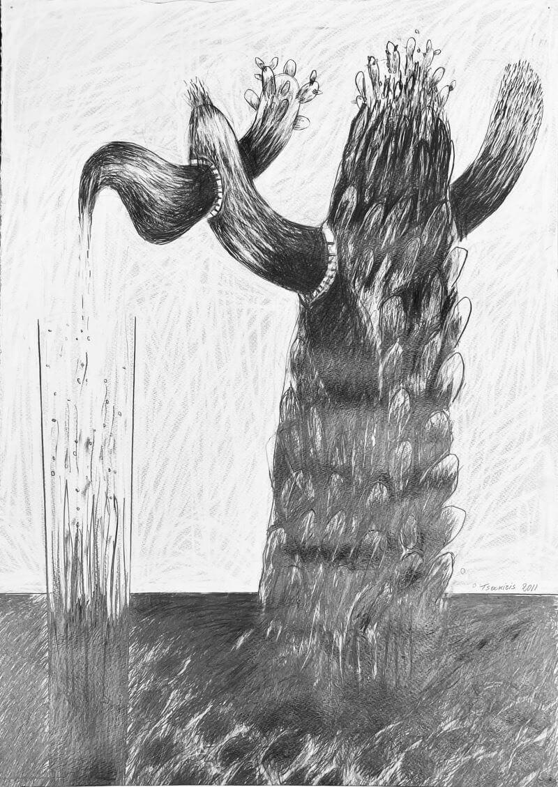 Γιώργος Τσακίρης 2011 Μολύβι σε χαρτόνι 70 x 50 εκ.