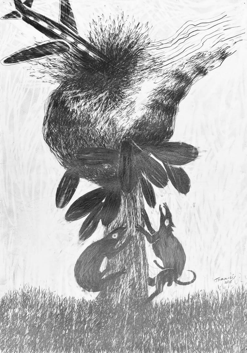 Γιώργος Τσακίρης 2015 Μολύβι σε χαρτόνι 70 x 50 εκ.