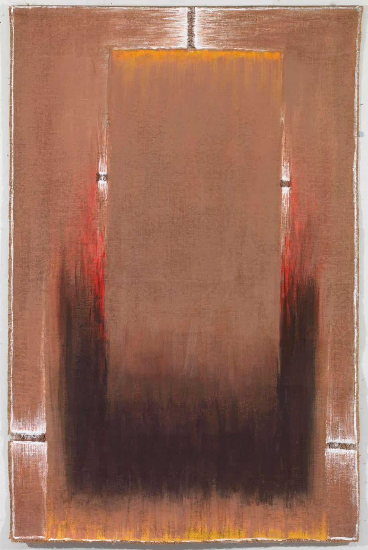 """Δανιήλ Παναγόπουλος, """"ΙΙΙ-VIII_84"""", 1984, Λάδι σε λινάτσα, 147 x 97 εκ."""