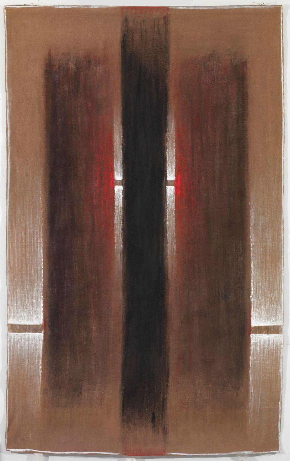 """Δανιήλ Παναγόπουλος, """"ΙΙΙ-V_82"""", 1982, Λάδι σε λινάτσα, 184 x 115 εκ."""