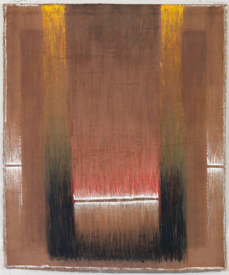 """Δανιήλ Παναγόπουλος, """"ΙΙΙ_86"""", 1986, Λάδι σε λινάτσα, 108 x 91 εκ."""
