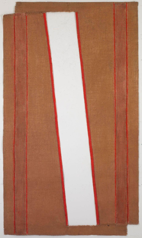 """Δανιήλ Παναγόπουλος, """"ΙΙ_1973"""", 1973, Λάδι σε λινάτσα, 175 x 100 εκ."""