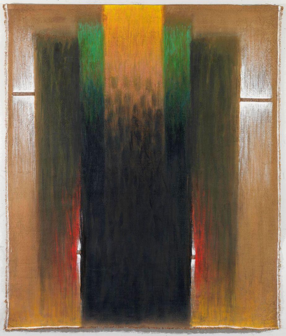 """Δανιήλ Παναγόπουλος, """"ΙΙ_85"""", 1985, Λάδι σε λινάτσα, 186 x 159 εκ."""