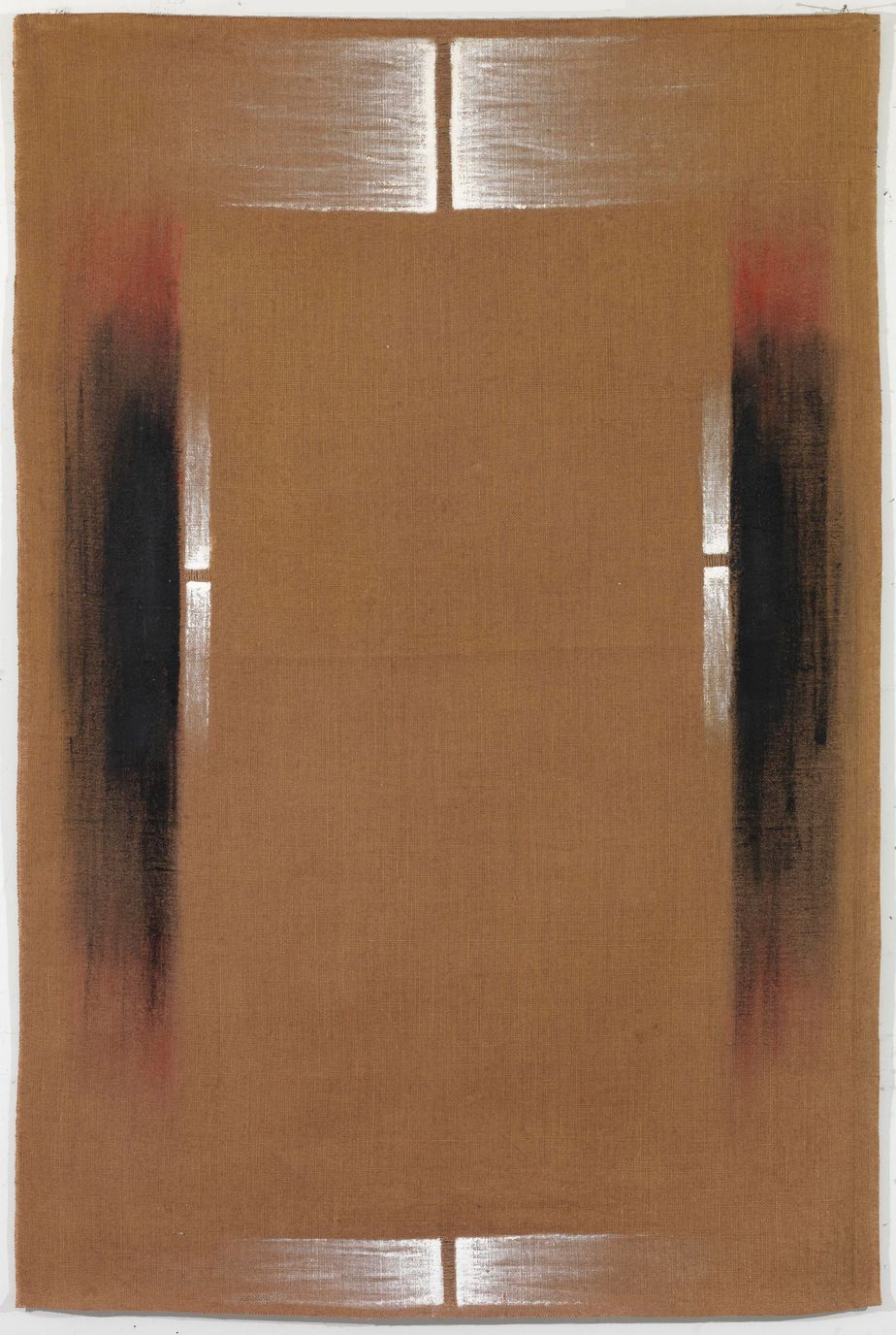 """Δανιήλ Παναγόπουλος, """"Ι-ΙΙΙ_81"""", 1981, Λάδι σε λινάτσα, 155 x 100 εκ."""