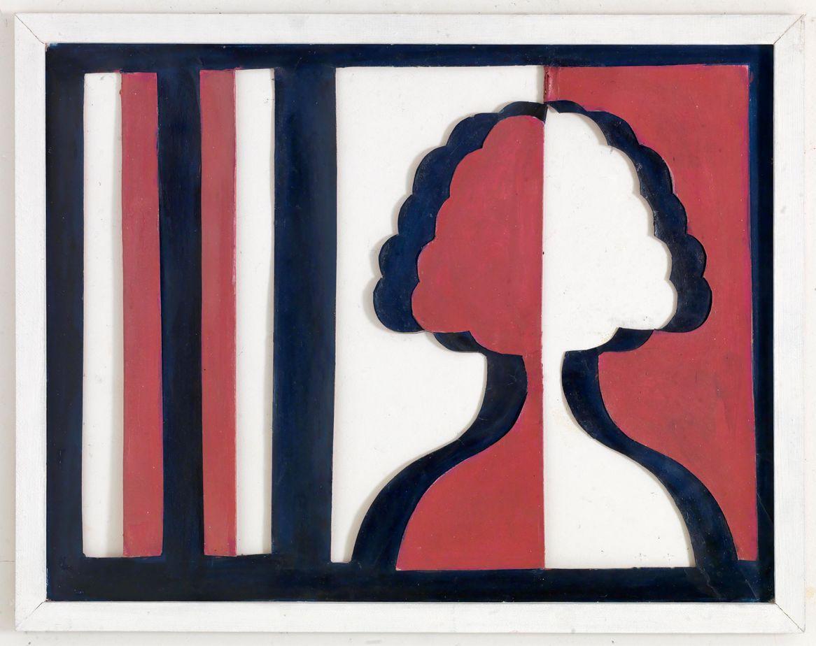 Δανιήλ Παναγόπουλος, Νο 2, 1970 Λάδι σε χαρτόνι και ξύλο, 51 x 65 εκ.