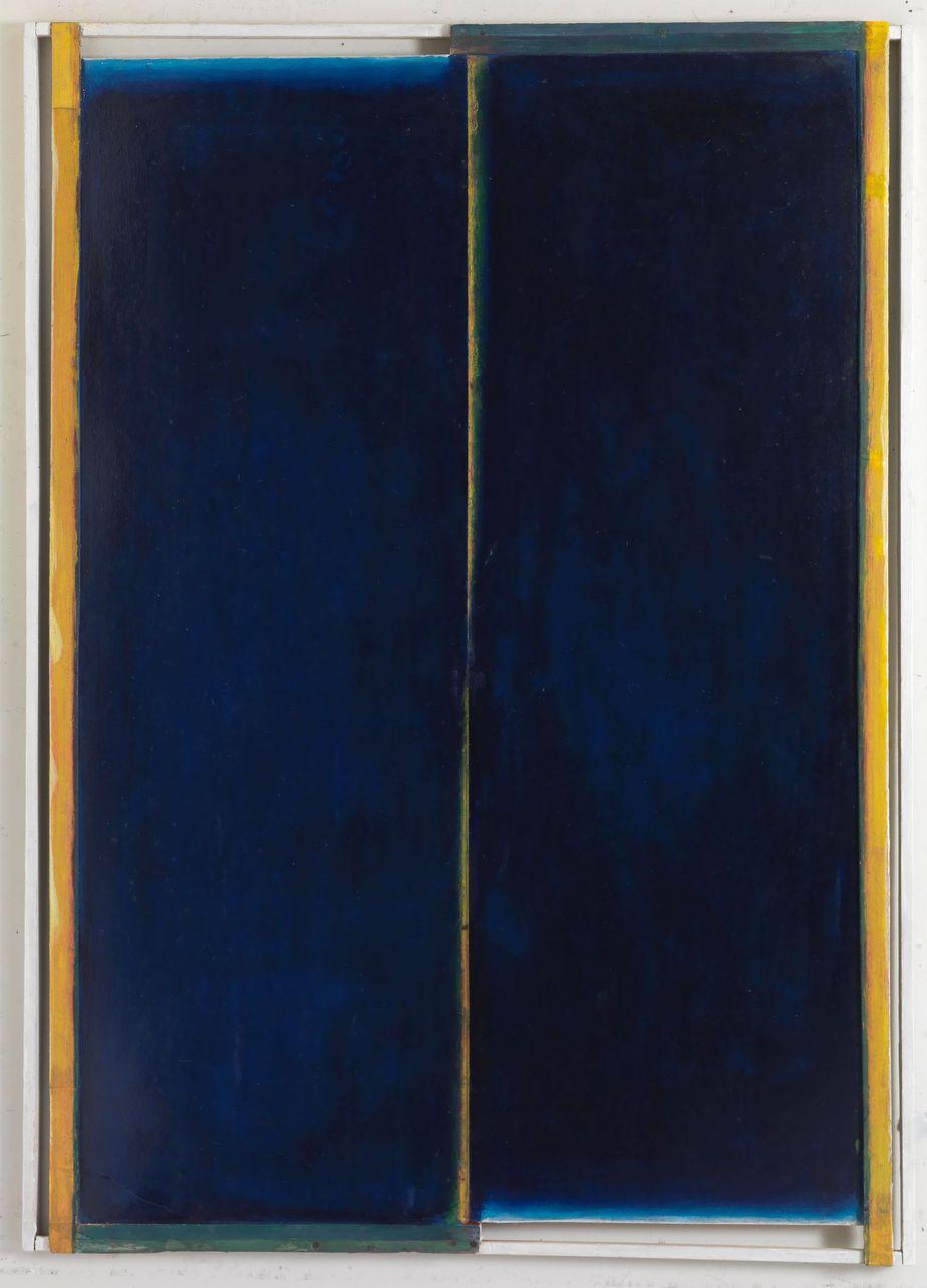 Δανιήλ Παναγόπουλος, Χωρίς τίτλο, Λάδι σε χαρτόνι και ξύλο, 103 x 70 εκ.