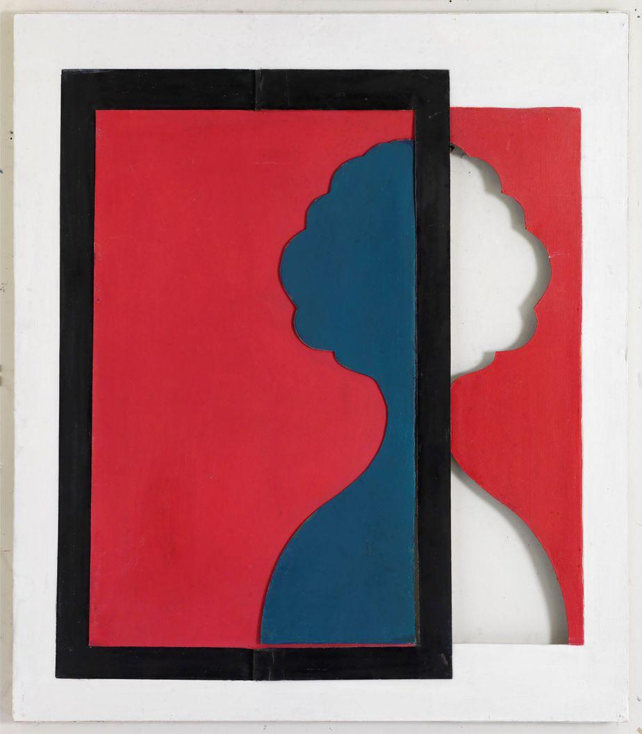Δανιήλ Παναγόπουλος, Χωρίς τίτλο, Λάδι σε χαρτόνι και ξύλο, 78 x 68 εκ.