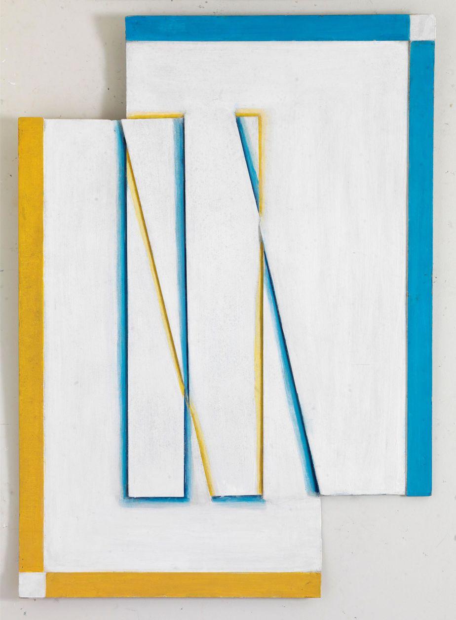 Δανιήλ Παναγόπουλος, Χωρίς τίτλο, Λάδι σε χαρτόνι και ξύλο, 80 x 57 εκ.