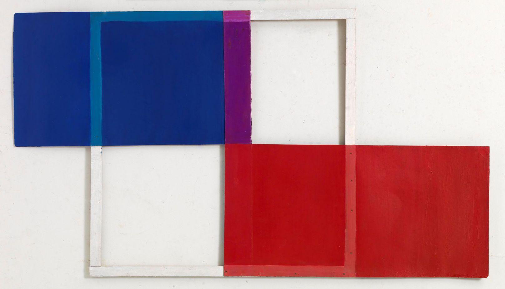 Δανιήλ Παναγόπουλος, Χωρίς τίτλο, 1971, Λάδι σε χαρτόνι και ξύλο, 52 x 93 εκ.