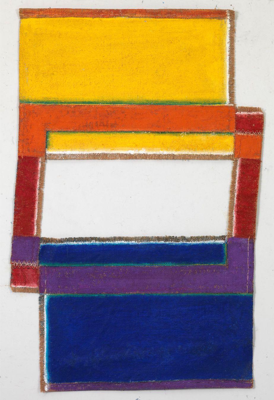 Δανιήλ Παναγόπουλος, Χωρίς τίτλο, 1972, Λάδι σε λινάτσα, 68 x 44 εκ.