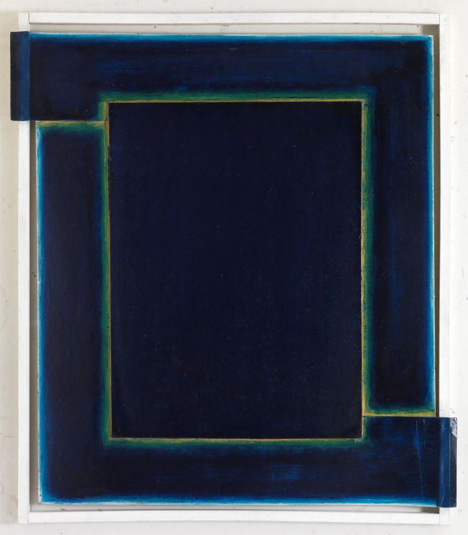 Δανιήλ Παναγόπουλος, Χωρίς τίτλο, 1972, Λάδι σε χαρτόνι και ξύλο, 71 x 60 εκ.