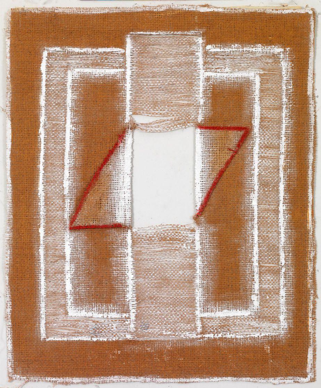 """Δανιήλ Παναγόπουλος, """"1_2_06"""", 2006, Λάδι σε λινάτσα, 46 x 38 εκ."""
