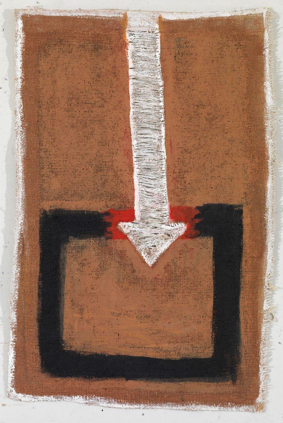"""Δανιήλ Παναγόπουλος, """"20_Ι_07"""", 2007, Λάδι σε λινάτσα, 65 x 43 εκ."""