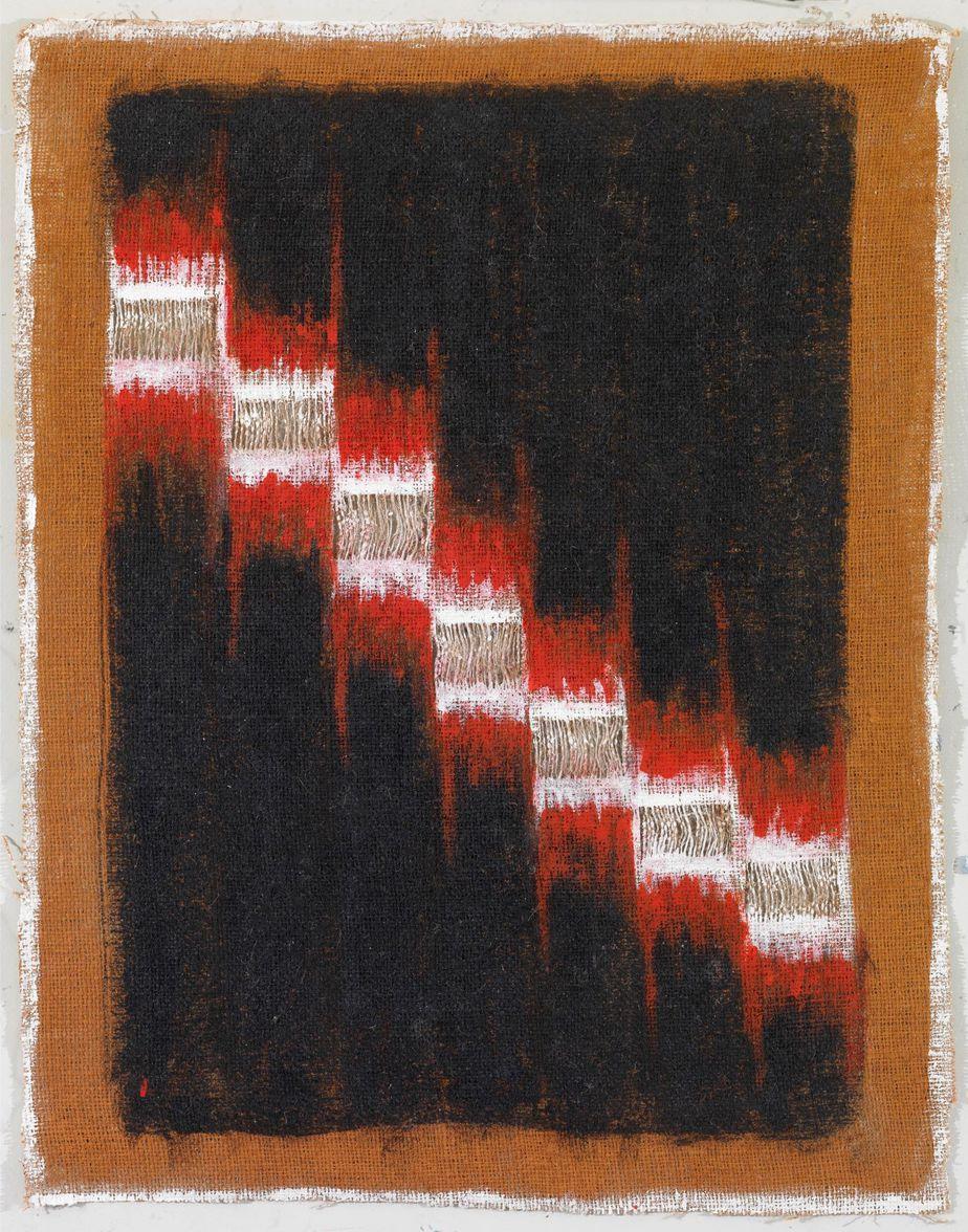 """Δανιήλ Παναγόπουλος, """"25_02_06"""", 2006, Λάδι σε λινάτσα, 68 x 53 εκ."""
