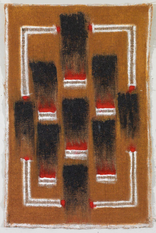 """Δανιήλ Παναγόπουλος, """"30_11_06"""", 2006, Λάδι σε λινάτσα, 76 x 47 εκ."""