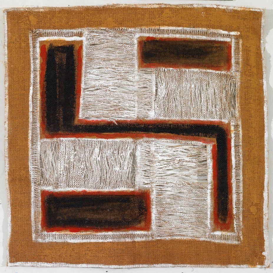"""Δανιήλ Παναγόπουλος, """"8_V_06"""", 2006, Λάδι σε λινάτσα, 56 x 57 εκ."""
