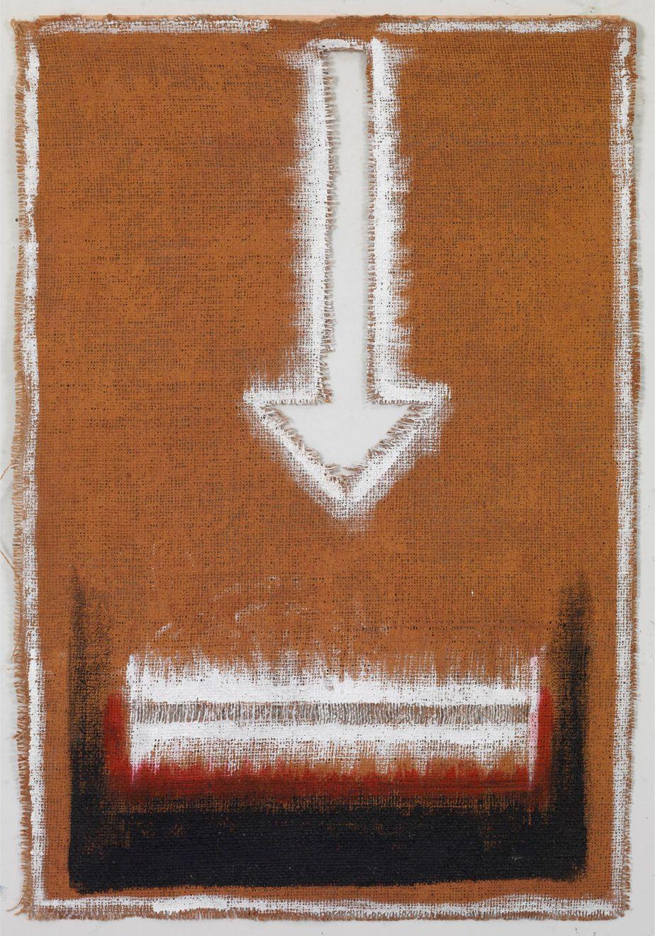 """Δανιήλ Παναγόπουλος, """"X11_05"""", 2005, Λάδι σε λινάτσα, 67 x 45.5 εκ."""