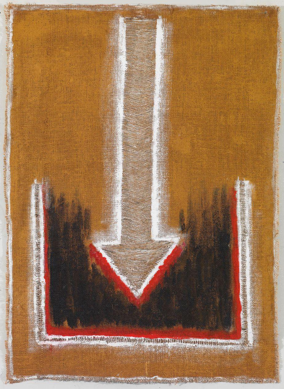 """Δανιήλ Παναγόπουλος, """"X_05"""", 2005, Λάδι σε λινάτσα, 90 x 65 εκ."""