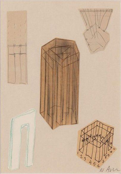 Νίκος Αλεξίου Drawing, pencil, ink, collage on paper 20.9 x 14.7 cm