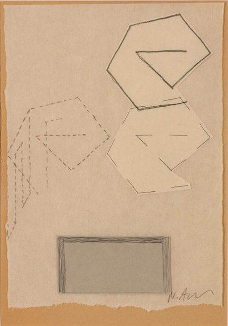 Νίκος Αλεξίου Drawing, pencil, collage on thin paper 29 x 19.5 cm
