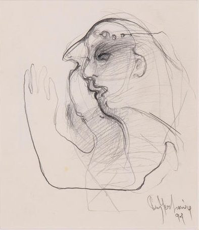 Giannis Metzikof Pencil on paper, 1994 16 x 14 cm
