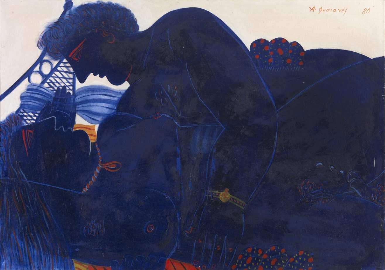 ΑΛΕΚΟΣ ΦΑΣΙΑΝΟΣ- έργο τέχνης Καπνιστής ποδηλάτης Roma Gallery exhibition: «Δύο κορυφαίοι πυλώνες της σύγχρονης ανθρωποκεντρικής ζωγραφικής»