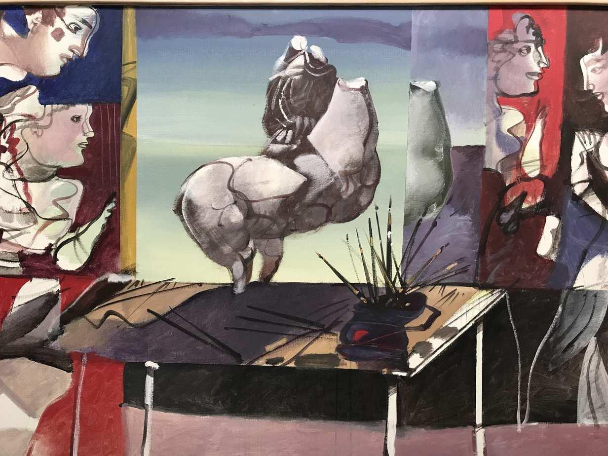 ΔΗΜΗΤΡΗΣ ΜΥΤΑΡΑΣ «Διαμόρφωση» Ακρυλικό σε καμβά 120 x 175 cm, 1980