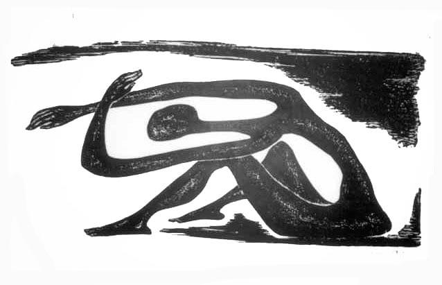 Βάσω Κατράκη (1914-1988) «Απειλή» Χάραξη σε πέτρα, 1986 76 x 106 εκ.