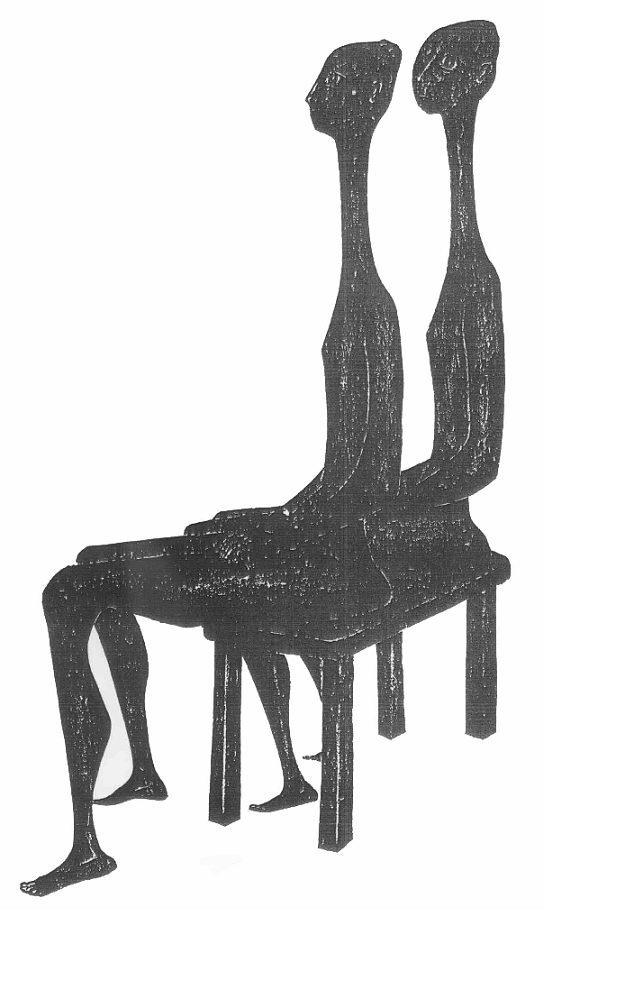 Βάσω Κατράκη (1914-1988) «Επίσκεψη III» Χάραξη σε πέτρα, 1979 107 x 76 εκ.