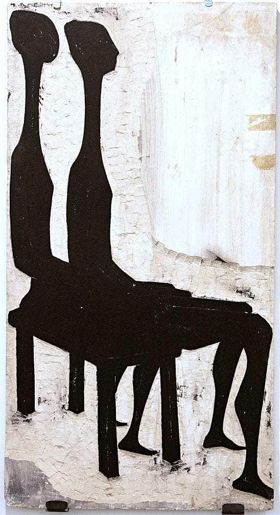 Βάσω Κατράκη (1914-1988) «Επίσκεψη III» (αμφίπλευρο) Μήτρα – πέτρα, 1979 91 x 49 x 2 εκ.