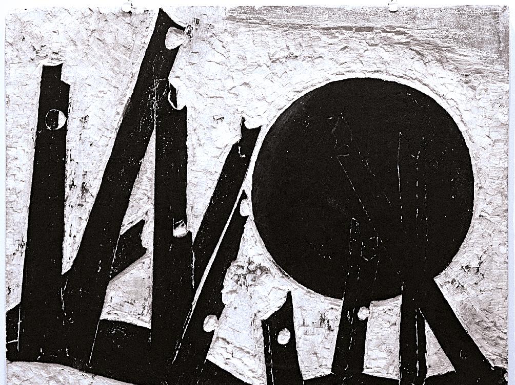 Βάσω Κατράκη (1914-1988) «Ήλιος και Σίδερα» μήτρα – πέτρα, 1979 61 x 75 x 2 εκ.