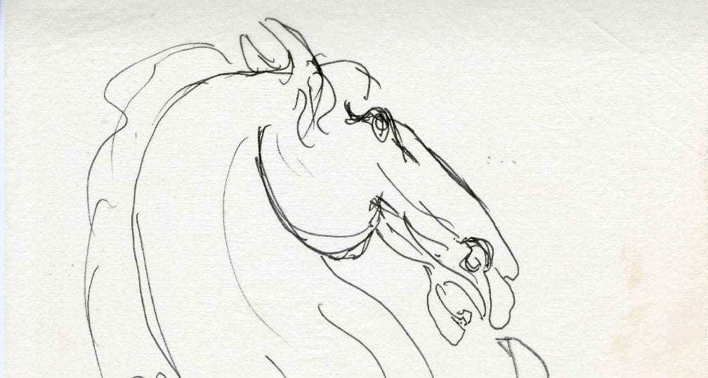 Βάσω Κατράκη (1914-1988) «Άλογο» Σχέδιο, μελάνι σε χαρτί 15.5 x 25 εκ.