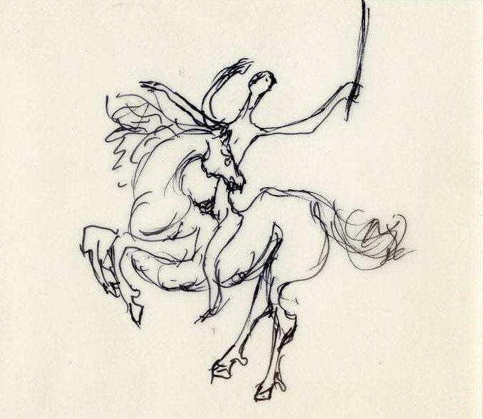 Βάσω Κατράκη (1914-1988) «Επέλαση» Σχέδιο, μελάνι σε χαρτί, 1985 13 x 14.5 εκ