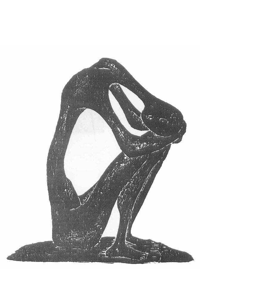 Βάσω Κατράκη (1914-1988) «Μοναξιά» Χάραξη σε πέτρα, 1980 106 x 75 εκ.