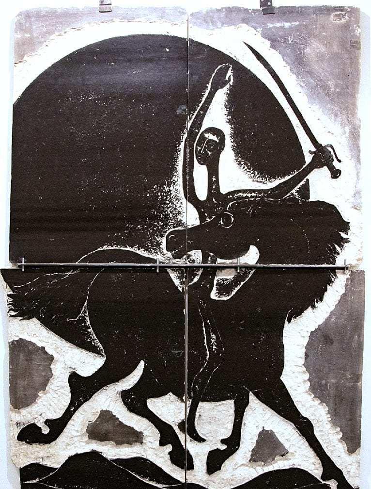 Βάσω Κατράκη (1914-1988) «Επέλαση» Μήτρα – Πέτρα, 1985 160 x 112 x 2.5 εκ.