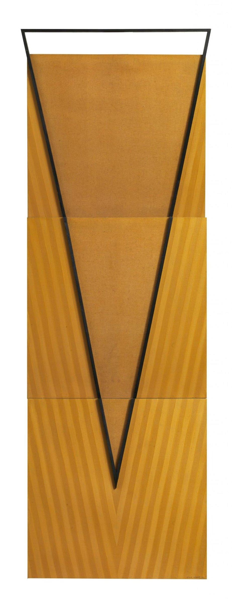 ΓΙΑΝΝΗΣ ΜΙΧΑΣ (1938-2008) Α+Λ 273, 1993 Μεικτή τεχνική σε καμβά, 223,5 x 74 εκ. Roma Gallery