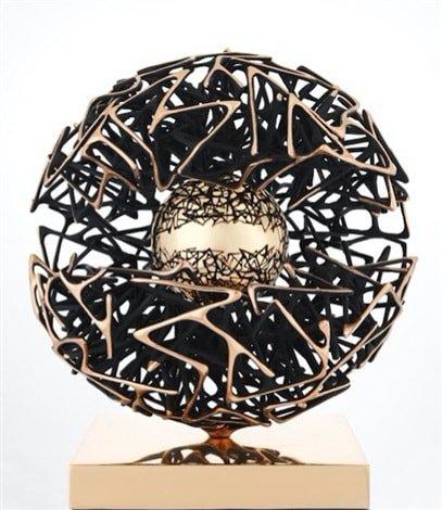Gianfranco Meggiato (b.1963) Title: Sfera Scienza e Conoscenza, 2014 Medium: Sculpture, Bronze Size: 60 cm