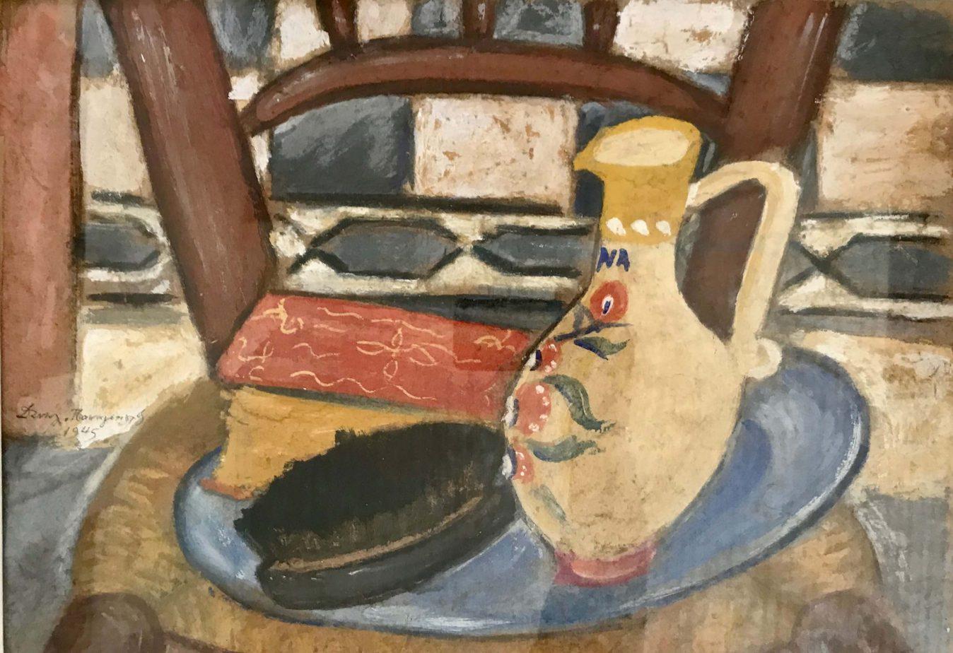 Danil (Panagopoulos) (1924-2008) Oil on paper, 1945 31 x 44 cm
