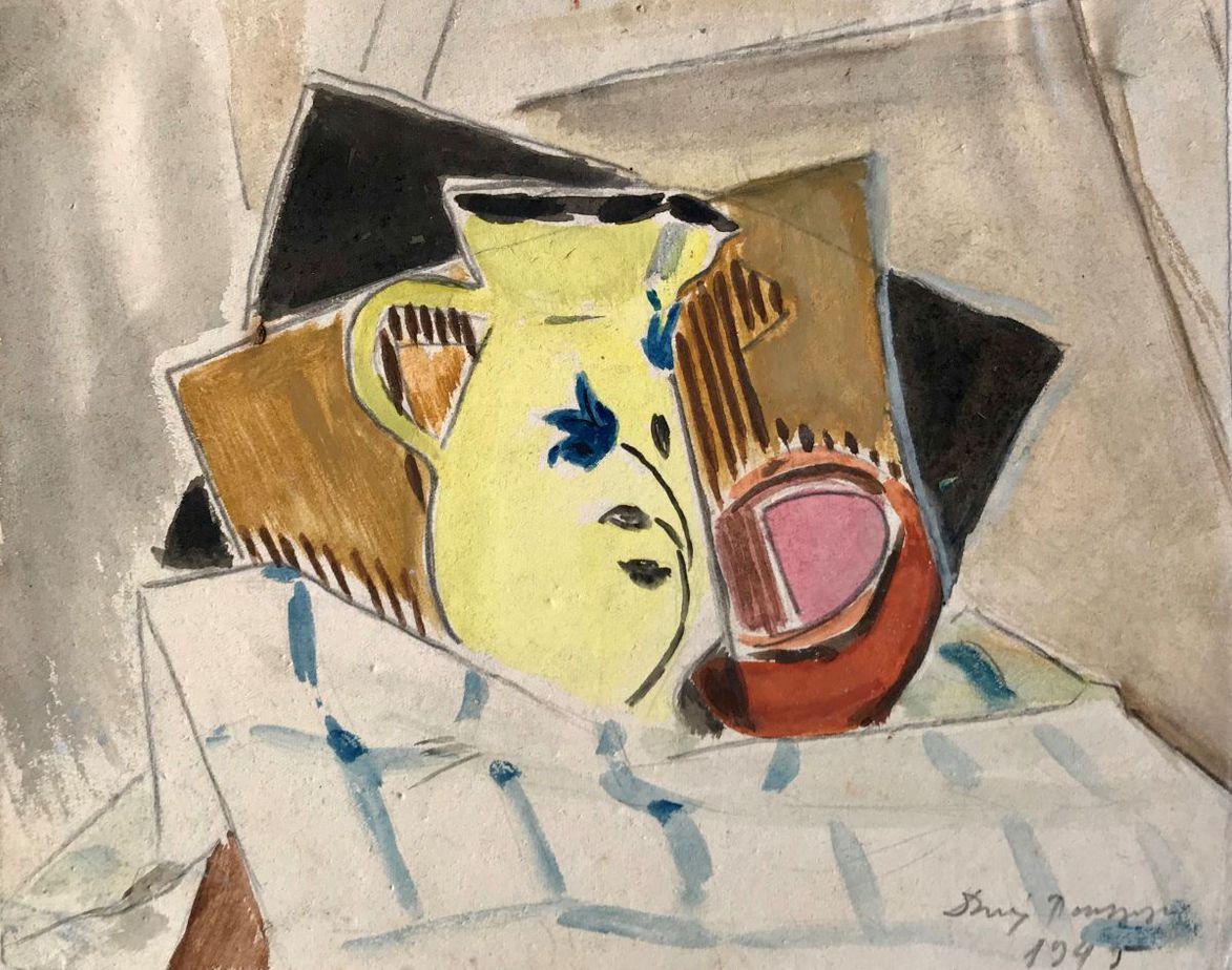 Danil (Panagopoulos) (1924-2008) Watercolor on paper, 1945 17.5 x 21 cm