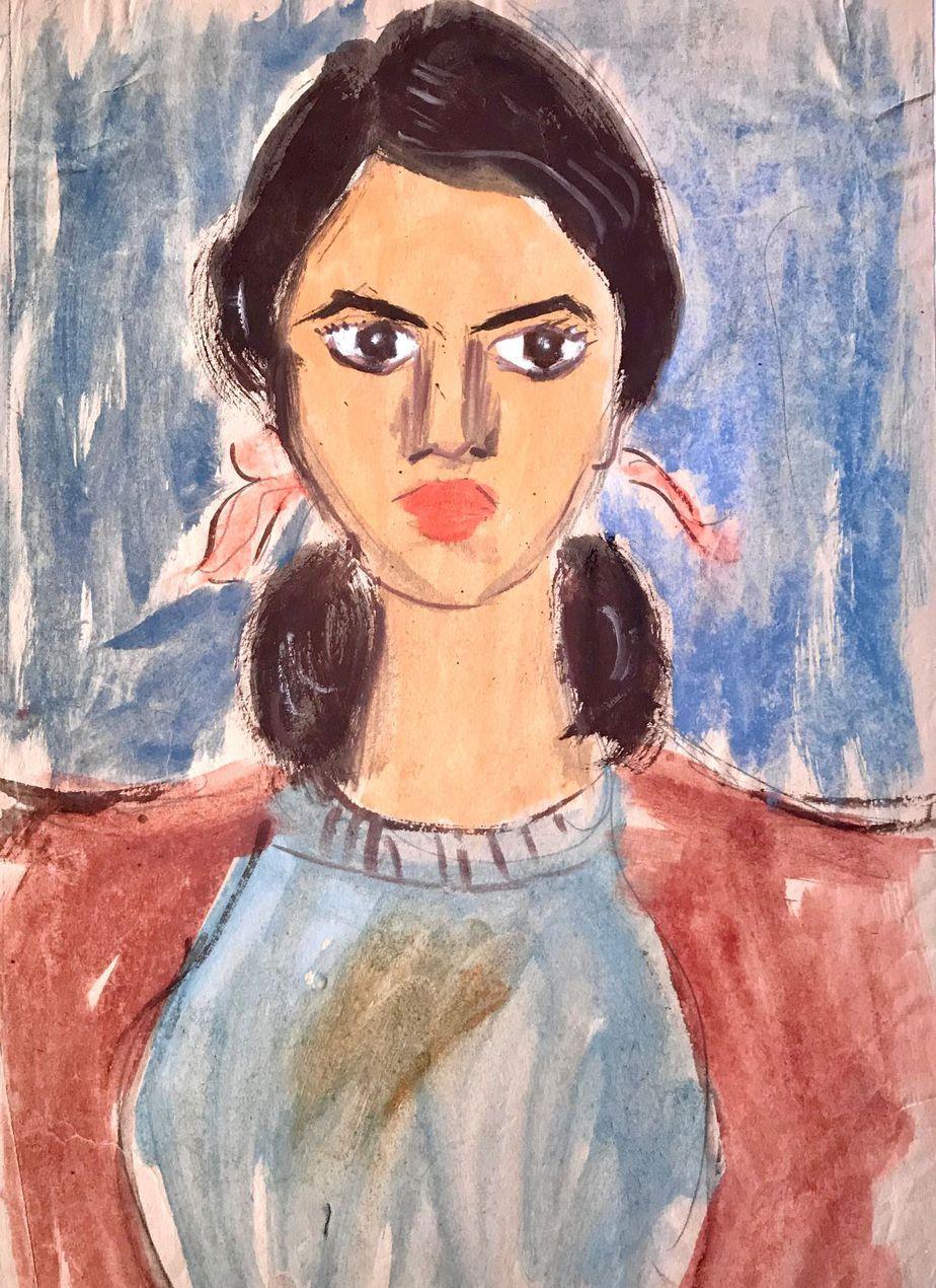 Danil (Panagopoulos) (1924-2008) Watercolor on paper 34 x 25 cm