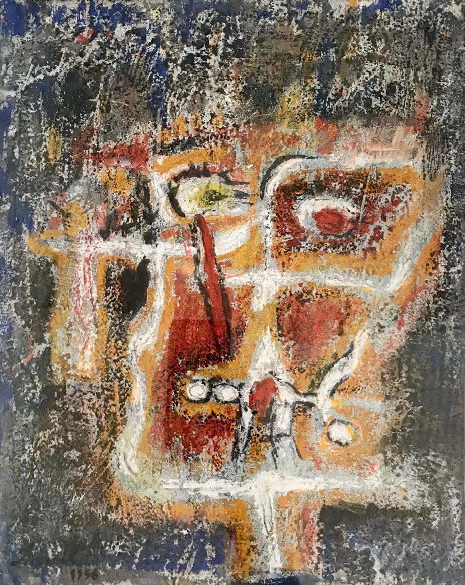 Danil (Panagopoulos) (1924-2008) Oil on paper, 1956 32 x 25 cm