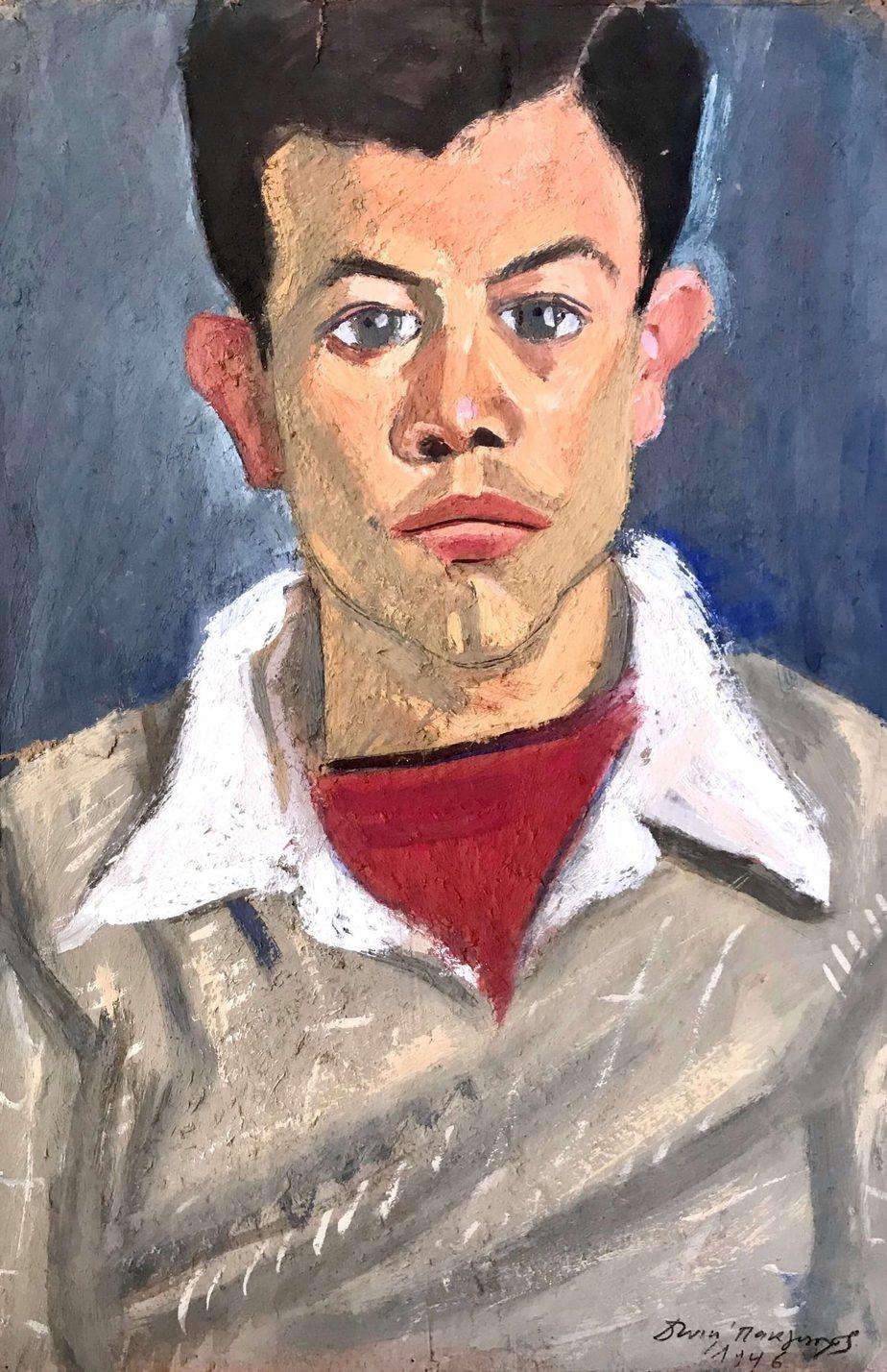 Danil (Panagopoulos) (1924-2008) Oil on paper, 1946 44 x 30 cm