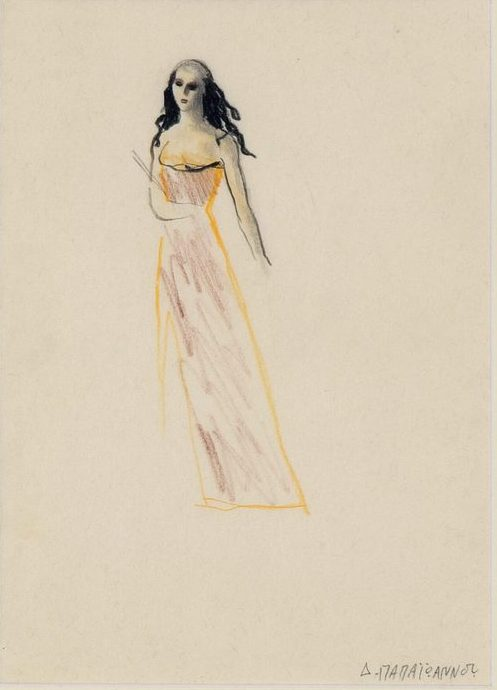 Dimitris Papaioannou Drawing, pencil and coloured pencil on thin paper 28.7 x 21 cm