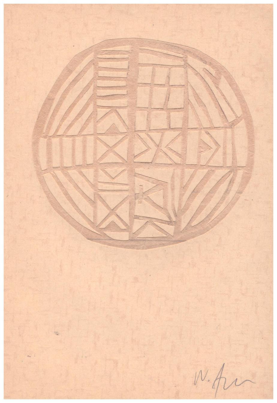 Nikos Alexiou Collage on paper 20.9 x 14.7 cm