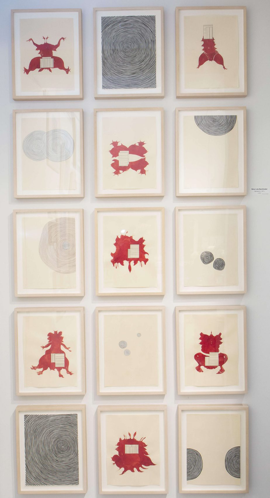 Nina Lola Bachhuber Untitled, 2004 Ink, pencil, collage on paper 16 drawings, each 25 x 33 cm