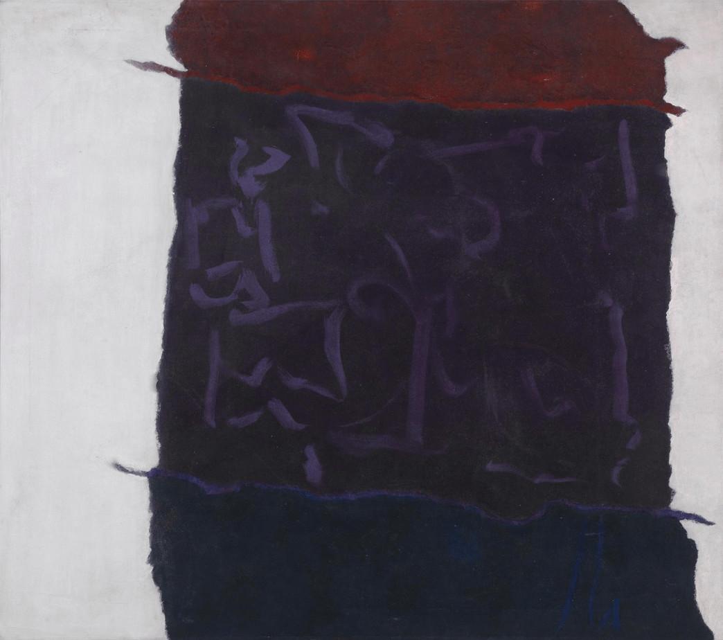 Infinity field (Lefkada Series), 1983 Acrylic on canvas 112 × 127 cm