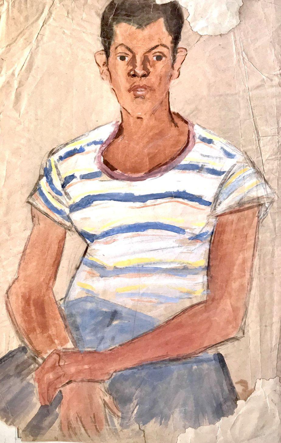 Danil (Panagopoulos) (1924-2008) Watercolor on paper 48 x 33 cm